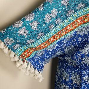 Roaman's Pants - NEW Roaman's Tassel Boho 24W Romper A1710